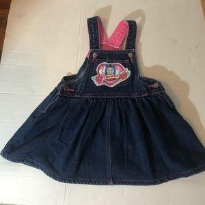 Baby Girls 3T denim jean dress w/ Thomas the Train